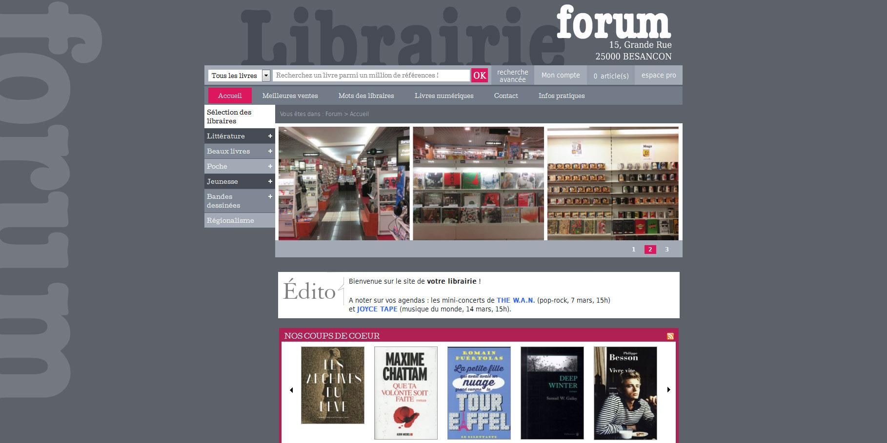 Librairie Forum Besançon